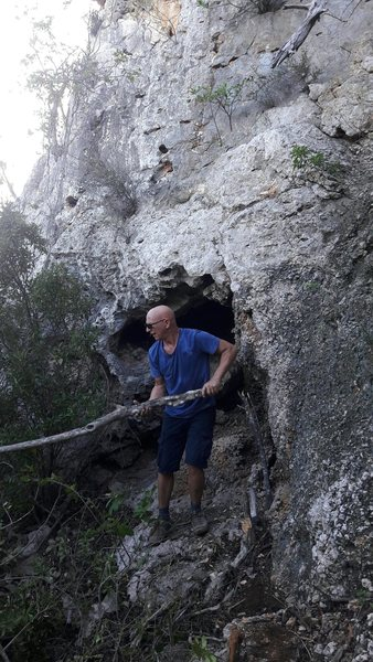 Rock Climbing Photo: Paolo machete action..