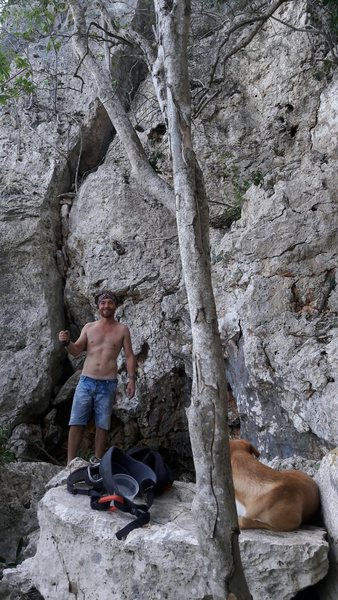 Cleaning the crag, from threes