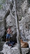 Rock Climbing Photo: Cleaning the crag, from threes