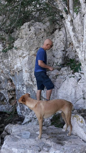 Crag cleaning..