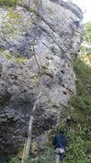 Rock Climbing Photo: Jo taking a spin up this very chossy route right o...