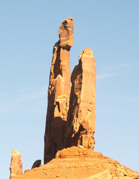 Rock Climbing Photo: Two unknown climbers at the top of moses. Taken on...