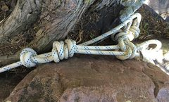 Rock Climbing Photo: Gotta back up that double fisherman's with... ...
