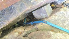 Rock Climbing Photo: Why use your racking 'biner for it's inten...