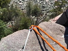 Rock Climbing Photo: Good anchor builders can't always be perfect; ...