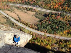 Rock Climbing Photo: Topping out P4. great colors