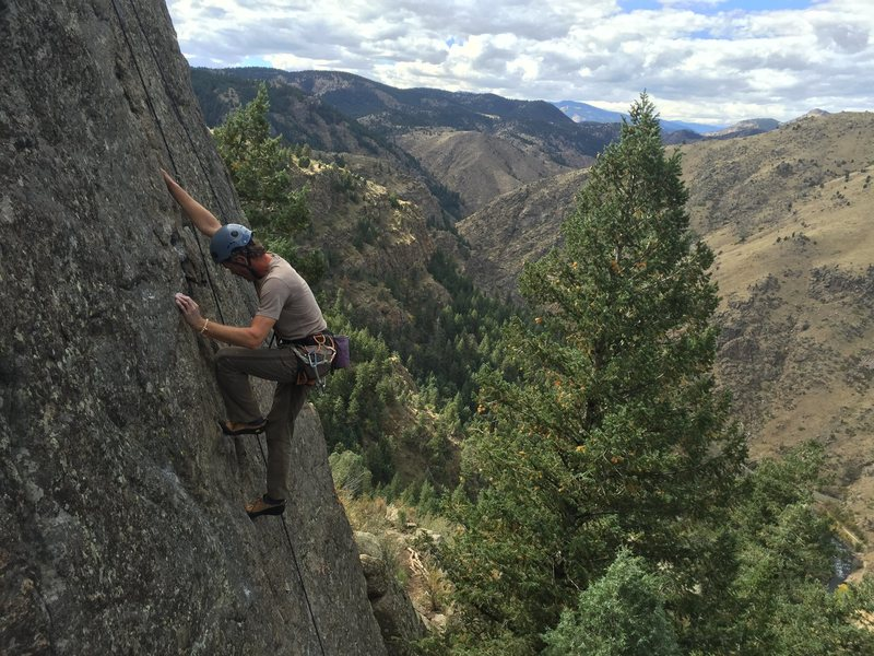 Rock Climbing Photo: Unknown climber on Three Little Birds 5.9. Tiers o...