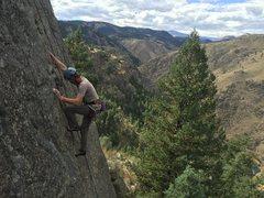 Rock Climbing Photo: Unknown climber on Three Little Birds 5.9. Tiers o...