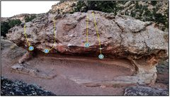 Rock Climbing Photo: Brain problems:  1. Historic Smalls (V2). 2. Snafu...