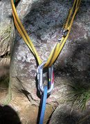 Rock Climbing Photo: ovals for rope. One locking allows you to skip the...