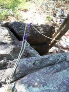 Rock Climbing Photo: and an anchor coming in from the right added to th...