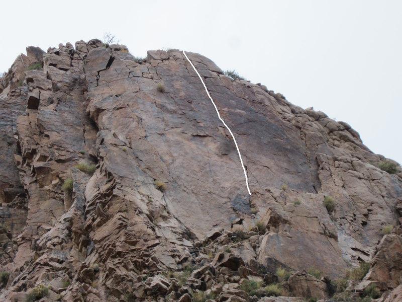 Wall of Voodoo, the climb.