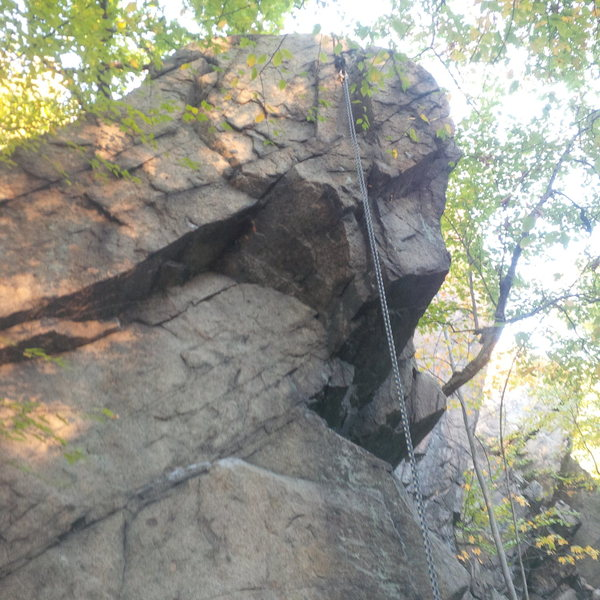 A closer view of the crux section.