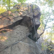 Rock Climbing Photo: A closer view of the crux section.