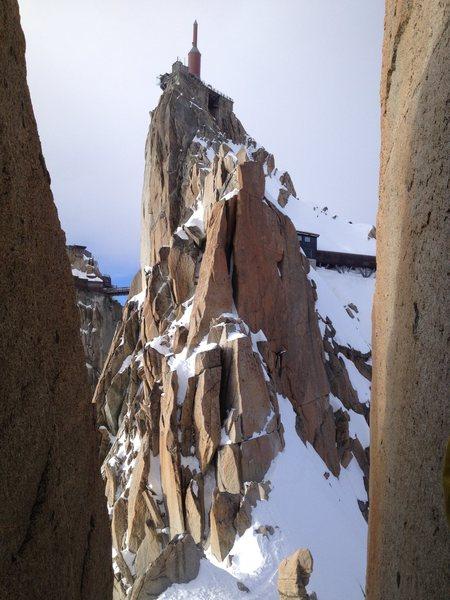 Rock Climbing Photo: On the Cosmiques Arete