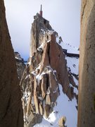 Rock Climbing Photo: On the Cosmiques Arete