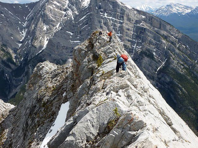 Climbing Mt. Lady Macdonald, Canadian Rockies