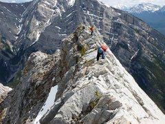 Rock Climbing Photo: Climbing Mt. Lady Macdonald, Canadian Rockies