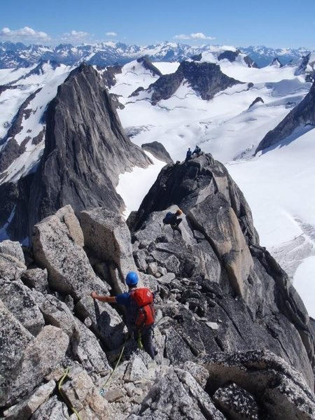 Climbing the Kain Route, Bugaboo Spire, Canadian Rockies