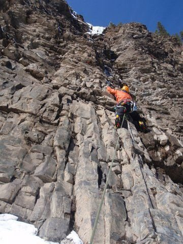 Rock Climbing Photo: Climbing 2 Low 4 Zero, Canadian Rockies