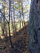 Rock Climbing Photo: Looking northeast from the wall towards Spokane.