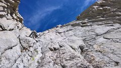 Rock Climbing Photo: A fine day in the mountains.  Soloed after first 3...