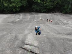 Rock Climbing Photo: My wife having fun on STD Route