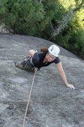 Rock Climbing Photo: My wife having fun on the Nose