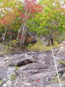 Rock Climbing Photo: Photo#12 - the 5.0-5.2 slab, note belayer above in...