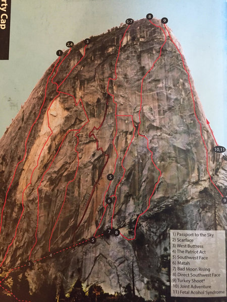 Rock Climbing Photo: Red marker is route overlay