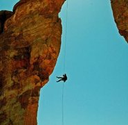 Rappelling into space