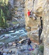 Rock Climbing Photo: Climbing High Tides. Very fun route!
