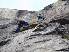 Rock Climbing Photo: Photo#21 - SM & RW following P8  They are at the a...