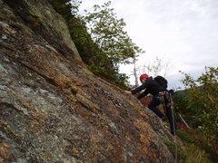 Rock Climbing Photo: Photo#22 - RW moves right at bottom of P9