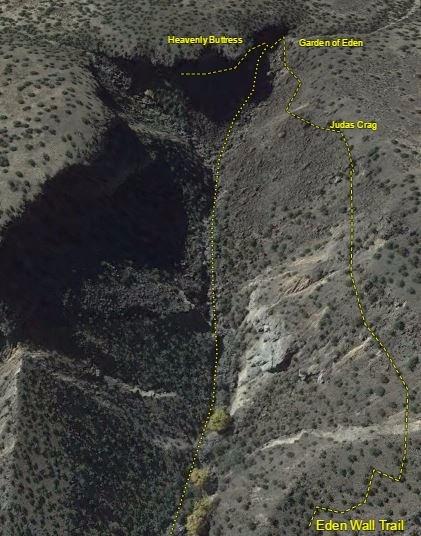 Closeup of Eden Canyon