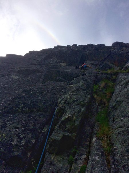 Rock Climbing Photo: Follow the rainbow!