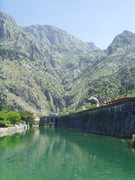 Rock Climbing Photo: View of the surrounding rock from old town Kotor