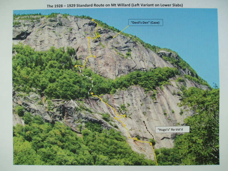 Mt Willard - Standard Route (Left Variant on Lower Slabs)