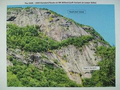 Rock Climbing Photo: Mt Willard - Standard Route (Left Variant on Lower...