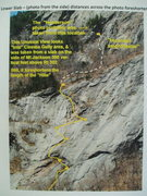 Rock Climbing Photo: Standard Route - Lower Slabs (Left Variant)
