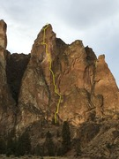 Rock Climbing Photo: The Good Ol' Days starts near the center of th...