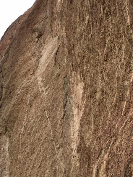 Rock Climbing Photo: 5.11 flake on pitch 4