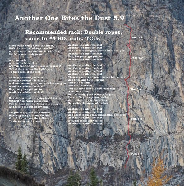 Rock Climbing Photo: Route topo with lyrics
