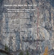 Rock Climbing Photo: Route topo with lyrics