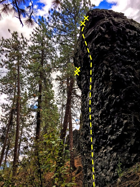 Rock Climbing Photo: 5.10ish Project at Cliff Drive