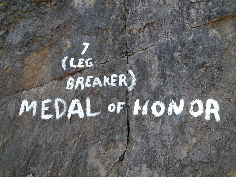 Rock Climbing Photo: Medal of Honor aka Leg Breaker