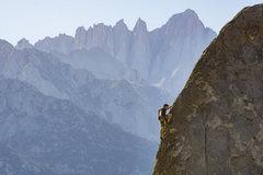Rock Climbing Photo: Mike running up Pirates on Horseback