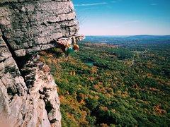 Rock Climbing Photo: Jonathan Bozoman leading the Dangler on Oct 11, 20...