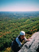 Rock Climbing Photo: Jennie Chung topping out Beginner's Delight on...