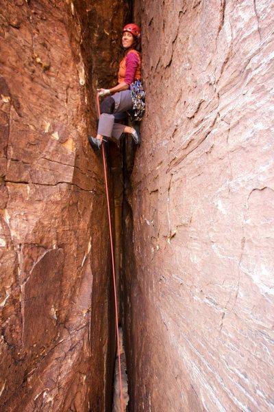 JU Shimmying on up!! photo: Steph Abegg